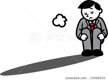 A depressed businessman 33068020