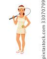 Girl tennis player 33070799