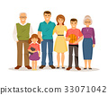 family, vector, child 33071042