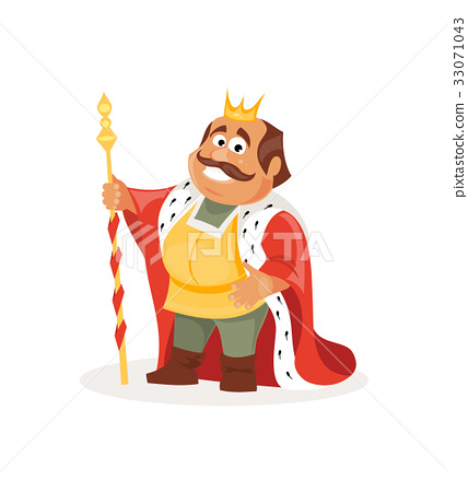 Cartoon king. Vector illustration 33071043