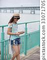 독서, 책 읽기, 소녀 33071705