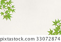 Washi和秋葉(綠色)夏天 33072874