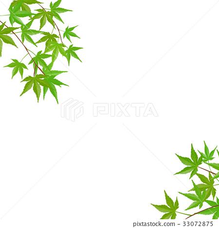 단풍 (녹색) 33072875
