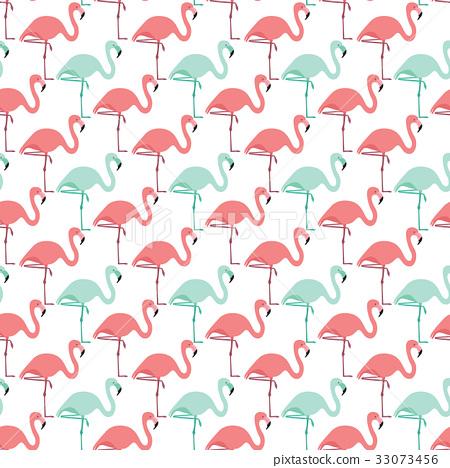 Seamless flamingo pattern 33073456