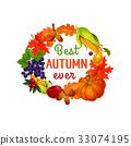 autumn, fall, vector 33074195