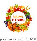 autumn, vector, fall 33074231