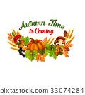 autumn, fall, vector 33074284