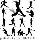 棒球 選手 剪影 33074910
