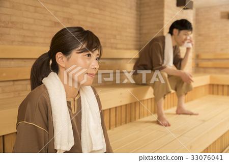 Men and women mixed bath sauna 33076041