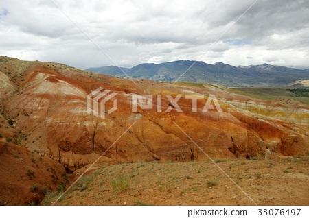 Fantastic Martian landscape. Mars. Red mountains. 33076497