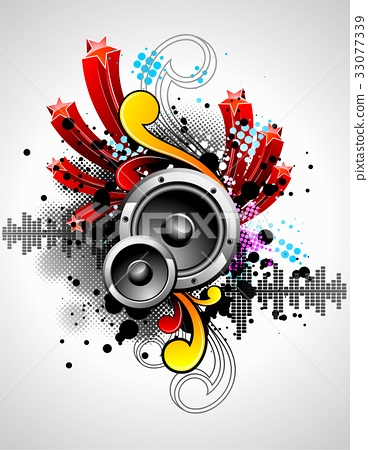 vector illustration for a musical theme 33077339