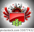 casino, illustration, gambling 33077432