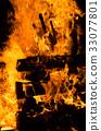 camp fire, flame, bonfire 33077801
