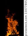 camp fire, flame, bonfire 33077805