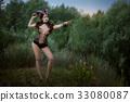 Fashionable stylish image of Capricorn. 33080087