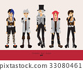 Lovely visual kei men. Different hairstyles 33080461