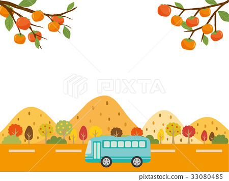 秋天 秋 乘公交旅行 33080485