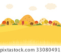 秋天 秋 矢量 33080491