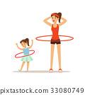 mother, girl, hula 33080749