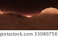 Panorama of Mars sunset, environment HDRI map 33080756