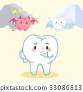 cute cartoon tooth 33086813