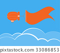 Dirigible flying and banner for text 33086853