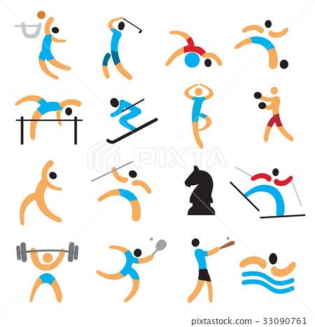 Sport icons. 33090761