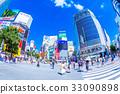 涩谷 复式交叉 城市风光 33090898