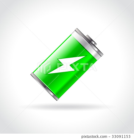 battery icon on white background 33091153