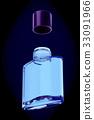 Glass bottle of male perfume 3d illustration 33091966