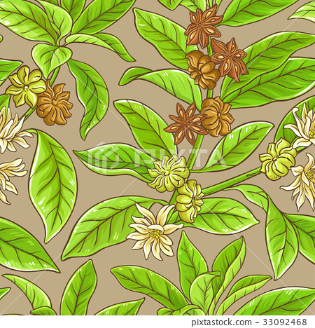 anise vector pattern 33092468