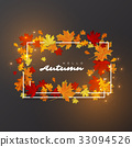 Hello autumn leaves background. 33094526