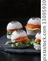 Rice sushi burgers 33095930