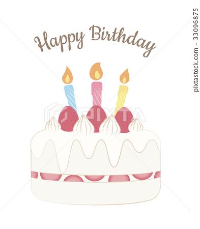 3 Years Old Birthday Cake