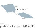 Samoa political map 33097091