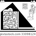 maze worksheet woman 33098124