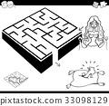 maze activity game with cinderella 33098129