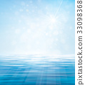 Vector blue sea  and  sun shine sky  background. 33098368