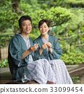 온천 욕 여행 미들 부부 술 일본식 이미지 33099454