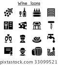 Wine icons set 33099521