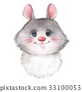 Cute mouse, watercolor 33100053