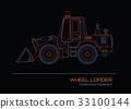 wheel, loader, outline 33100144