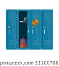 Welcome back to school illustration. Flat vector 33100706