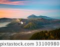 Mount Bromo, View during sunrise 33100980