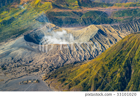 Mount Bromo volcano during sunrise 33101020