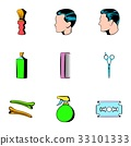 haircutting, icon, cartoon 33101333