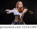violin, playing, woman 33101380