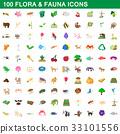 100 flora fauna 33101556