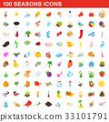 100, seasons, icons 33101791