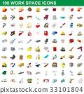 100, work, icon 33101804